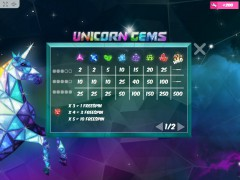 Unicorn Gems slotmachines77.net MrSlotty 3/5